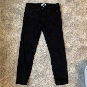 Paige black cropped jeans